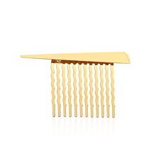 hot deal buy chimera gold hair comb clip claws simple metal triangle hairpin fashion headwear wedding hair jewelry accessories for women