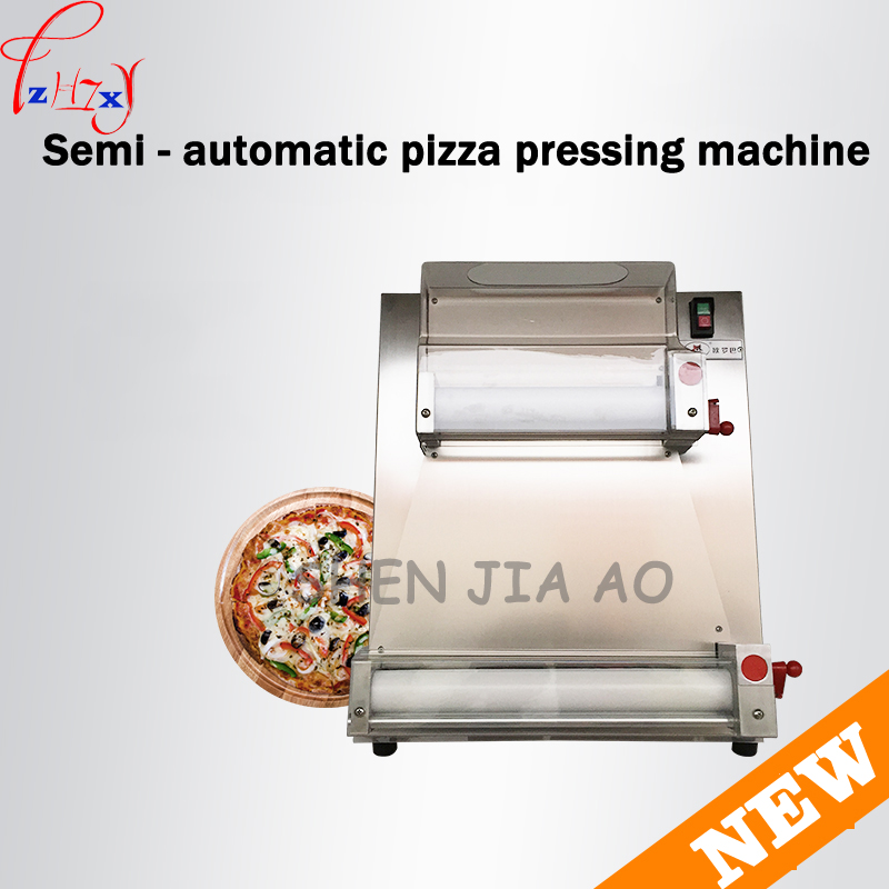 Commercial Stainless Steel Pizza Bottom Press Machine 3-15 inch Pizza Dough Machine Easy to operate  DR-1V 220V 370w 1pc electric pizza dough press machine for rolling dough dough sheet making machine