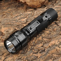 UltraFire UF T50 800lm White 2 Mode Memory Dimming Flashlight Black 1x18650 2xCR123A