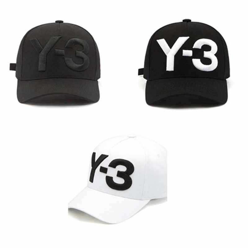 80233f0aeecb5 ... Y3 Hat Snapback Hip Hop Baseball Caps Cotton Hat Men Baseball Letter  Man Plain Adjustable Baseball ...