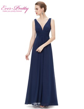 Long Bridesmaid Dress Vestido Free Shipping EP09016NB 2017 New Arrival Women's Sexy Dress