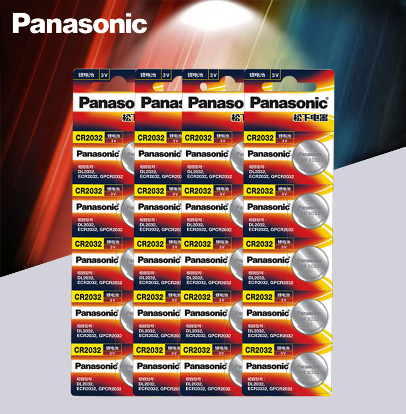 20pcs/lot Panasonic Original Cr 2032 Button Cell Batteries 3V Coin Lithium Battery For Watch Remote Control Calculator Cr2032