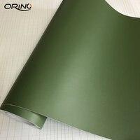 Película de vinil autoadesiva  envoltório de carro fosco  militar  verde  para motocicleta  orino  folha de envoltório