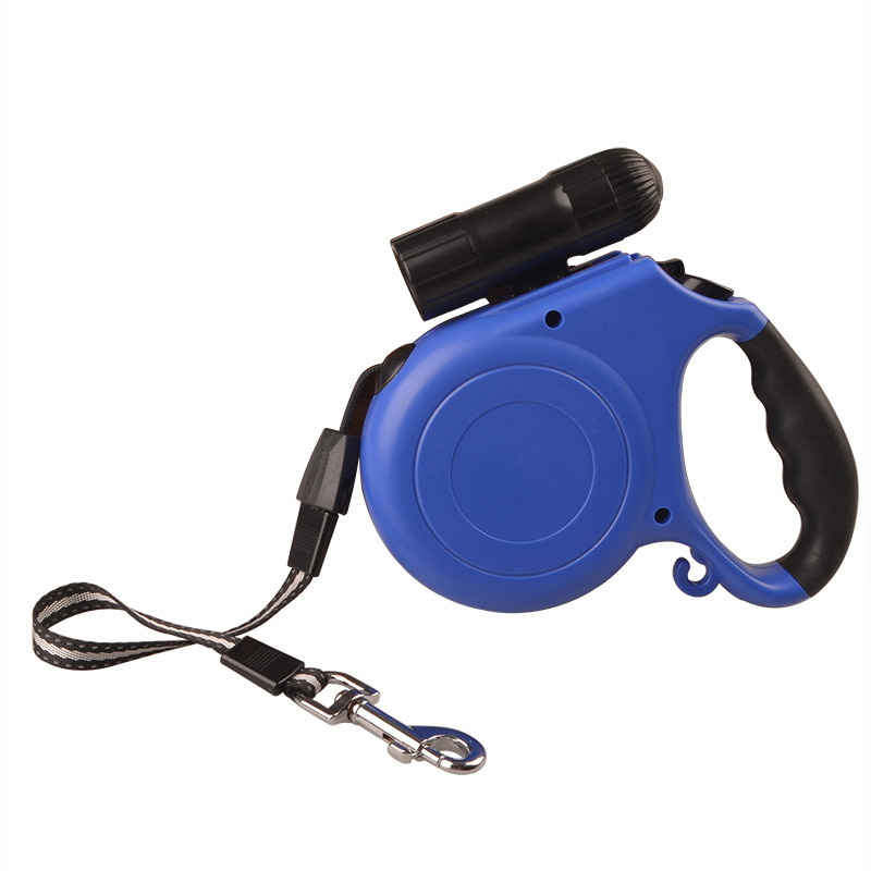 Automatic Nylon Pulling Rope with Torch Retractable Pet Dog Leash Pet Products Hot Sale
