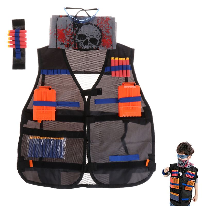 Super Cost-effective Red Mask Kit Toy Gun Glasses Shuttle Bullet Clip For Nerf Mega Water Gun Accessories Adults Boys Gift