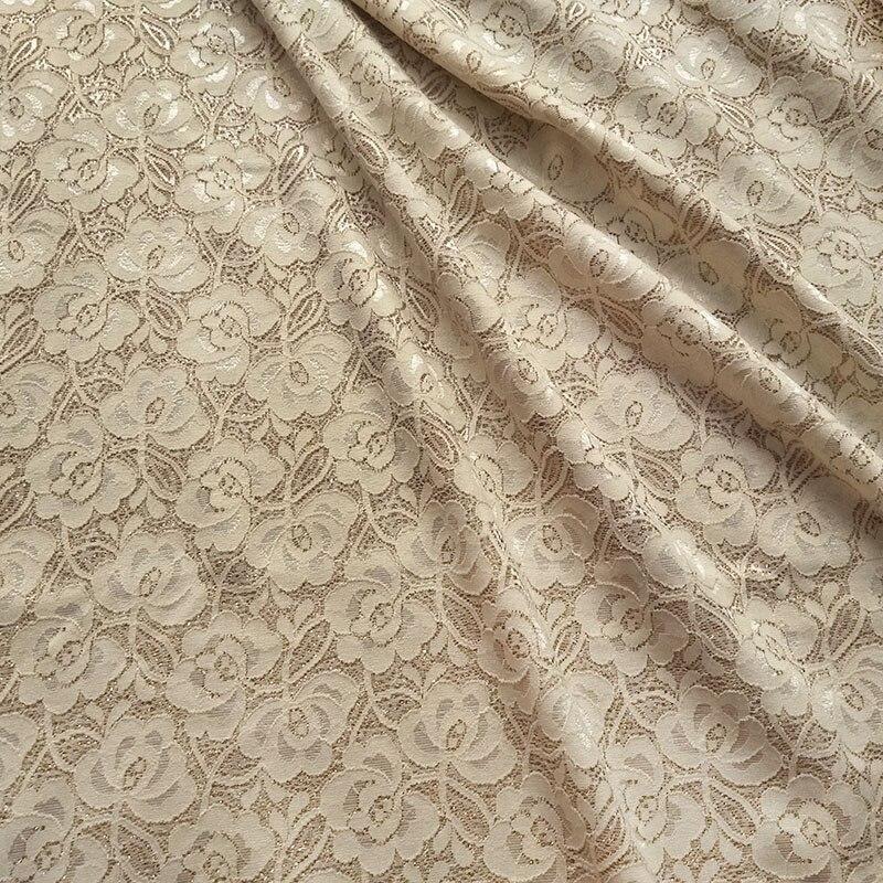 Novas brilhantes vestidos de noite tecido de renda francesa africano de ouro em pó flores estiramento pano do vestido de casamento de costura home living tissus