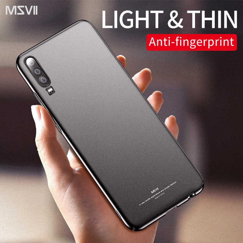 Huawei P30 lite caso MSVII Sottile Glassata Dura del PC del telefono coque copertura Posteriore P 20 30 pro Per Il caso di Huawei p20 lite copre casi di P30