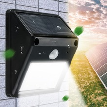 12 LED Solar Powered PIR Motion Sensor Light Outdoor Garden Fence Patio