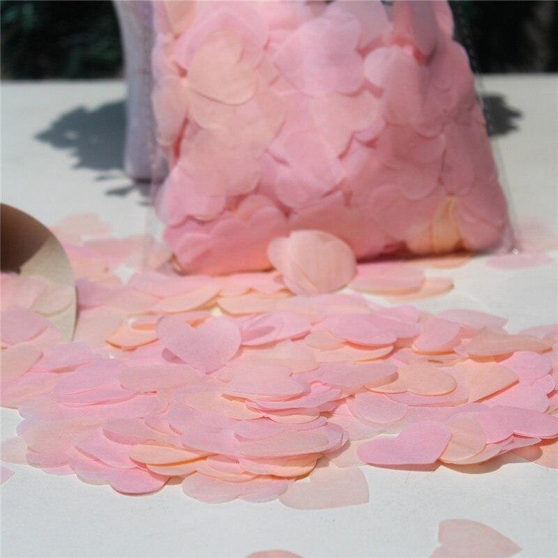 Rosa Y Corazón Blanco Boda Confeti-Mesa De Fiesta Decoraciones-Biodegradable