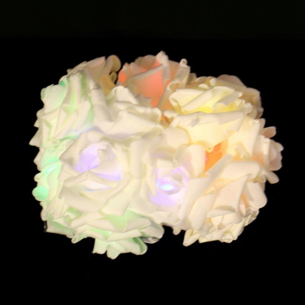 ICOCO 2017 visoke kvalitete 20 LED romantični ruža cvijet vila niz - Rasvjeta za odmor - Foto 6
