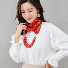 Fashionable lady's scarf scarf resin effect pendant scarf tassel beaded necklace jewelry scarf free shipping geometry tassel edge scarf