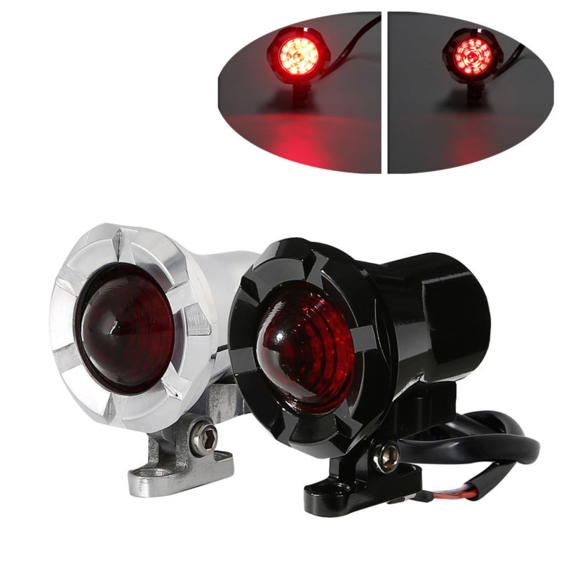 Amber Mesh Lens Led 2 Color Turn Signal Brake Light Bullet Bobber For Cafe Racer 12v For Harley Dyna Softail Flht Motorcycle Home