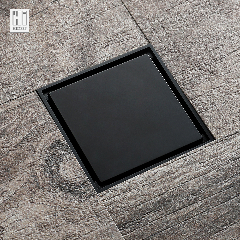 HIDEEP Black Modern Design Deodorizing Bathroom Floor Drain For ...