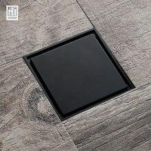 HIDEEP черный современный Дизайн дезодорирующий Ванная комната трап для Ванная комната трап Санузел Душ слива