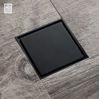 HIDEEP Black Modern Design Deodorizing Bathroom Floor Drain For Bathroom Drain Floor Drain Washroom Shower Drain