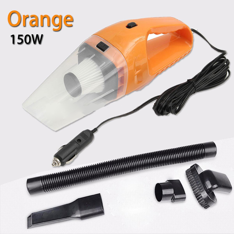 Mini Portable 150W 12V Car Handheld Cyclonic Auto Car Vehicle Vacuum Cleaner Rechargeable Wet And Dry Duster