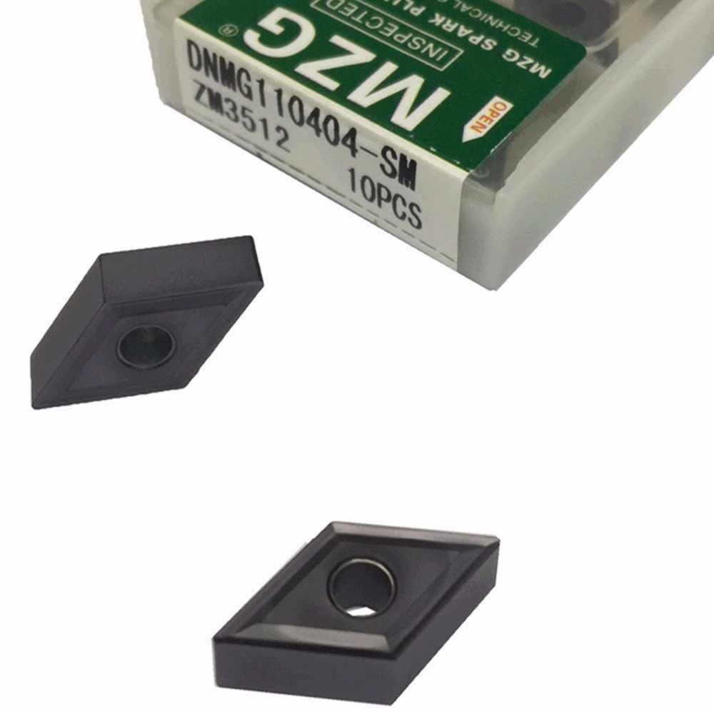 MZG DNMG110404 DNMG110408 SM ZM3512 Aço Processamento de Corte CNC Viragem Chato Toolholder Pastilhas De Metal Duro intercambiáveis