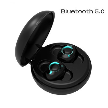 Bluetooth Headsets 5.0 Mini In-Ear Sports Earphones Waterproof Running Wireless Earbuds for iPhone Android with Charger Box
