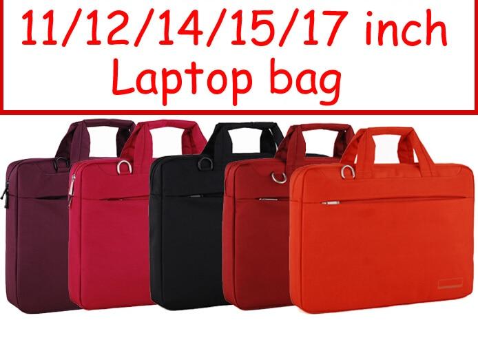 Sólido 11 12 14 15 17 pulgadas Ordenador portátil portátil tableta bolsas caso mensajero Bolsa de hombro hombres mujeres
