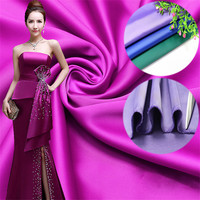 240G Thickening Spandex Satin Fabric Solid Color Imitated Silk Cloth Satin Fabric Polyester Silk Fabric For
