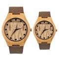 Mostrador do relógio de madeira do vintage relógios de quartzo Das Mulheres Dos Homens Casal Assista Brown & black Banda Relogio masculino feminino New Arrivals