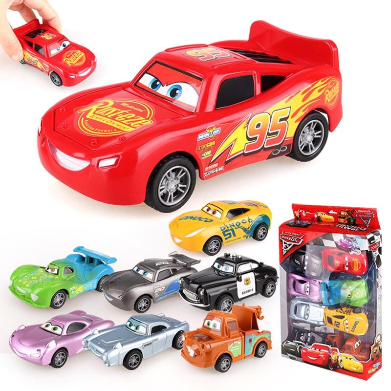 Disney Pixar Cars 3 ABS Car Toy Lightning McQueen Pull Back Car  Jackson Storm Cruz Model Car Kids Toys For Children
