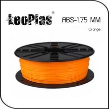 Быстрая доставка по всему миру Прямой Производитель 3d-принтер Материала 1 кг 2.2 фунтов 1.75 мм Orange ABS Нити