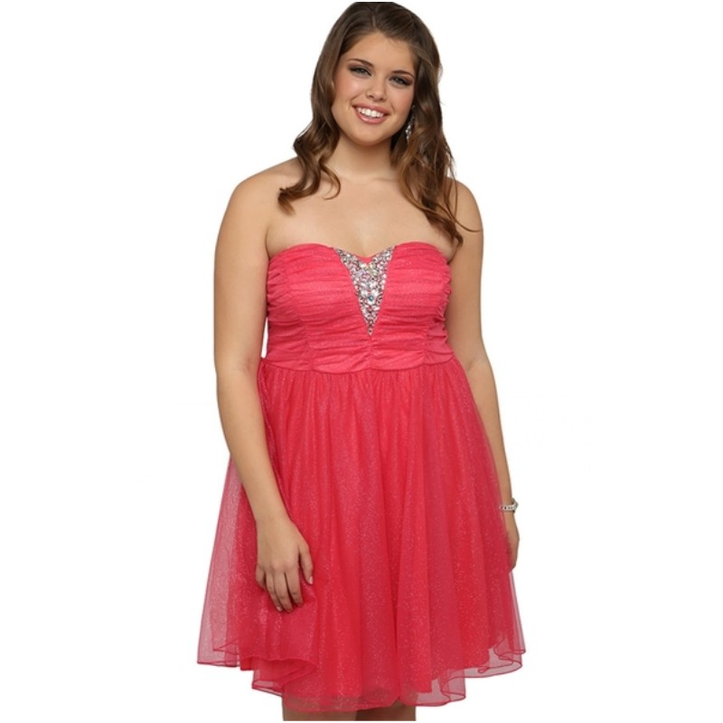 Plus Size Short Prom Dresses With Stone Neckline Ballerina ...