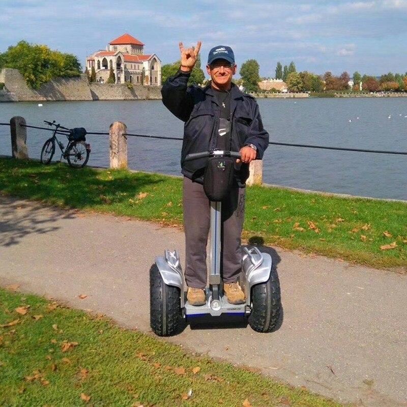 2 roues smart auto équilibrage grande roue scooter électrique avec poignée bar