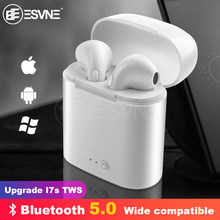 Esvne I7s Tws Nirkabel Bluetooth Earphone Stereo Earbud Headset dengan Pengisian Kotak MIC Semua Bluetooth Tablet Smartphone(China)