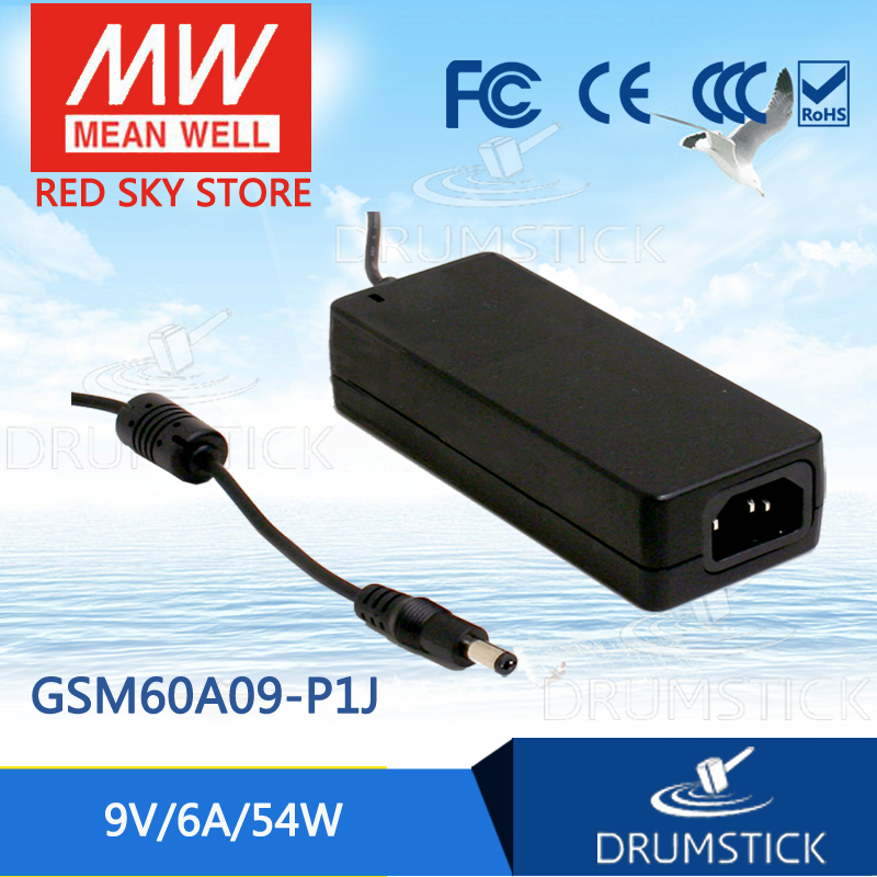 100% Original MEAN WELL GSM60A09-P1J 9V 6A meanwell GSM60A 9V 54W AC-DC High Reliability Medical Adaptor 1mean well original gsm160a24 r7b 24v 6 67a meanwell gsm160a 24v 160w ac dc high reliability medical adaptor