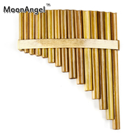 Pan pipes Woodwind bignner Pan Flute 15 Pipes Handmade Bamboo Flauta pan pipes Handmade Panflutes Flauta Musical Instruments