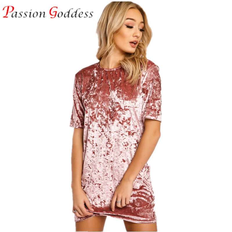 Plus Size 2016 Casual Women Bodycon Velvet Dress O Neck Short Sleeve Pink Yellow Black Gold Autumn Dresses For Woman Vestidos