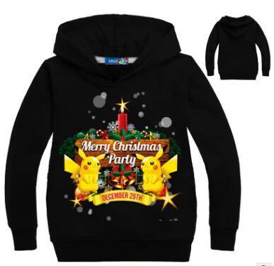 Hot Kids Clothing Boy Girl pokemon Costume Sudaderas Sweatershirt pokemon Go Sweatershirts Christmas Christmas New Year gift VW1