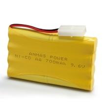 1x Anmas Power 9.6V 700mAh Rechargeable NI-CD AA Bateria NiCd Ni Cd Battery Pack Tamiya Plug for RC boat model car toy