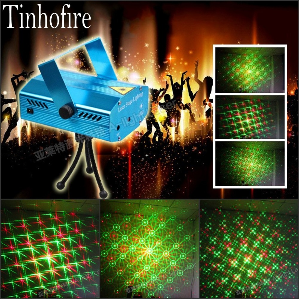 Tinhofire A-04G(YK) Remote Control Whirlpool MINI LED Stage Light Lamp R&G Laser Stage Lighting Sound Control Party KTV DISCO