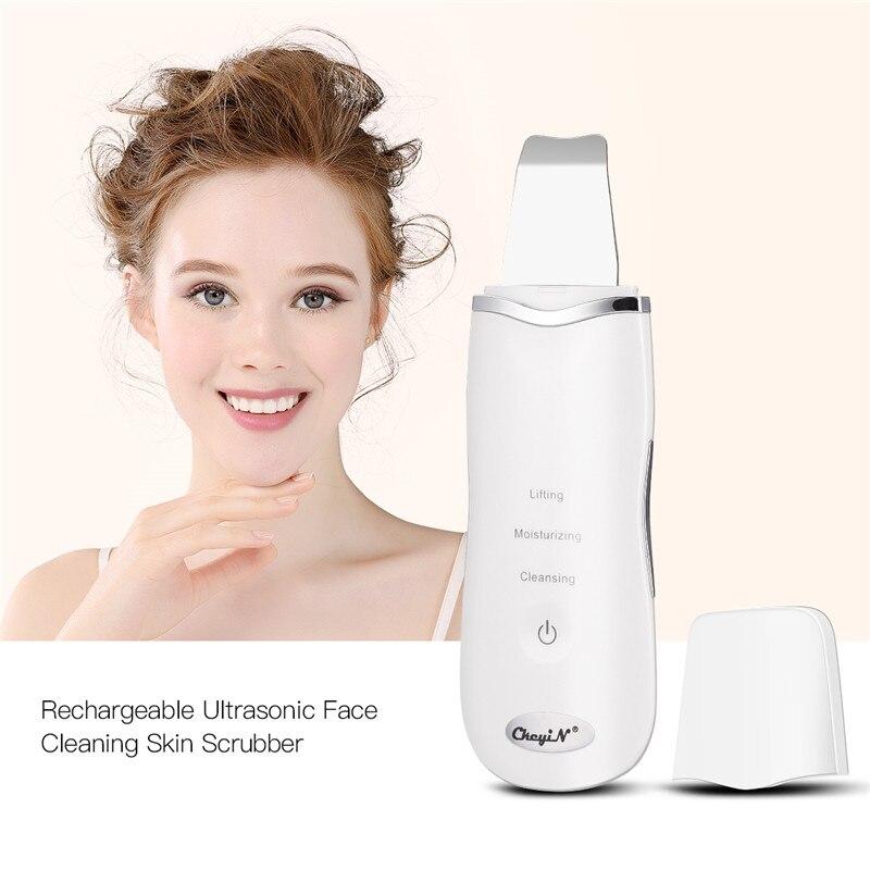 Ultradźwiękowe płuczki skóry myjka do oczyszczania porów trądzik usuwająca zaskórniki dokładne czyszczenie Peeling złuszczający pielęgnacja twarzy urządzenie kosmetyczne 50