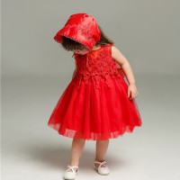 Latest Baby Girl Dresses for Baptism Red Sleevless Vestido For 1 Year Old Birthday Party 2019 Formal Baby Clothes SKF154708