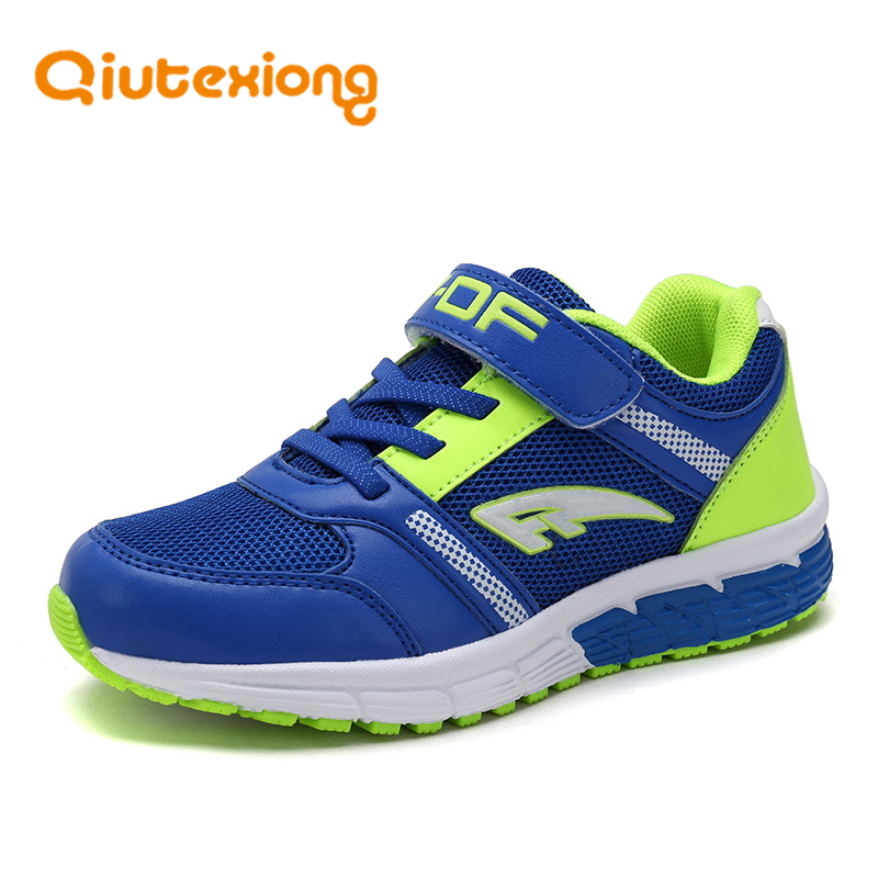 QIUTEXIONG Kids Boys Shoes Children Sneakers Shoes Mesh Patchwork EVA Running Sport Boys Casual Shoes School chaussure enfant