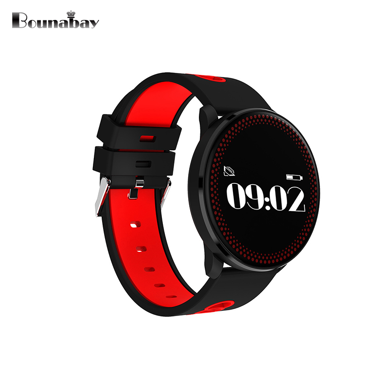 BOUNABAY Heart Rate Bluetooth Smart woman watch women watches apple android ios phone ladies Clock Touch Screen TF card Clocks цена