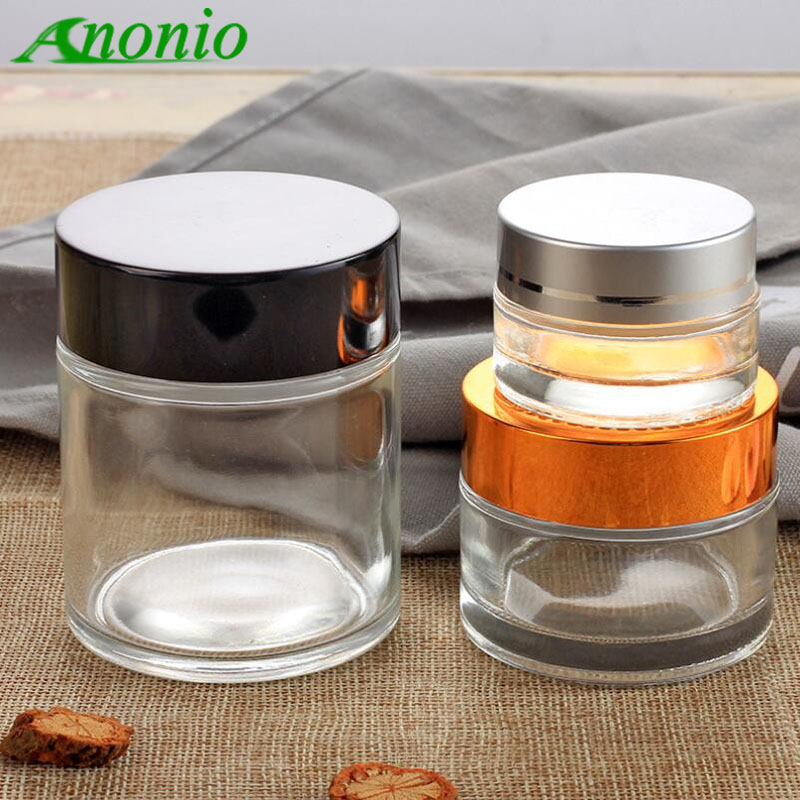 5pcs 5g 10g 15g 20g 30g 50g 80g Clear Glass Empty Container Makeup Bottle Cosmetic Cream Jewelry Empty Jar Pot Eyeshadow S080C