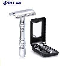 BAILI Upgrade Wet Shaving Safety Blade Razor Shaver Handle Barber Men's Manual Beard Hair Care BT171