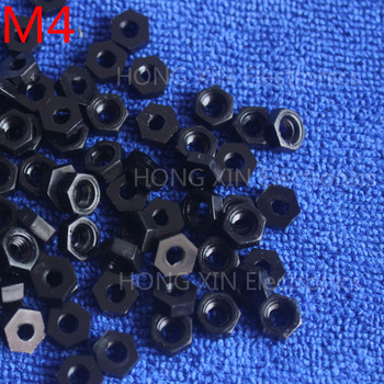M4 black nylon hex nut 4MM plastic nuts Meet RoSH standards Hexagonal PC Electronic accessories Tools etc high-quality image