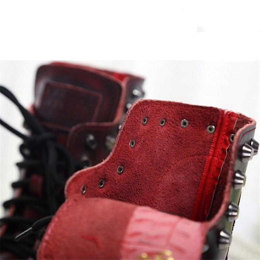 Femmes Cuir Chaussures Velvet Épais 8311 Bronze bronze Plus Veau black Velvet red Rouge Automne Rivet Moyen black Hiver En red Bottes 2018 Et De Velvet Chaud Mode Noir Nouveau TqwtHUg75x