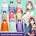 Stock Love Live Coat Sport Sweat Wear Hoodie Jackets Nozomi Tojo Umi/ Eli/ Hanayo/Nico/Rin Cosplay Costume For Halloween