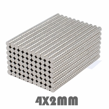 цена 100/300/500pcs 4*2 mm Super Powerful Neodymium Magnets Free Shipping Dia 4x2 mm N35 Rare Earth Magnet For Crafts Fridge в интернет-магазинах