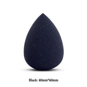Image 5 - Bioaunt新 6 色のプロ顔ファンデーションスポンジパウダーパフドロップ形の円滑な化粧パフビューティーメイクアシスタントツール