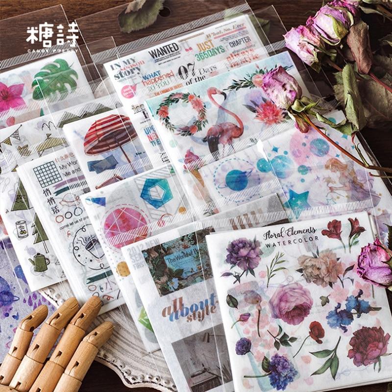 10 Pcs/lot Cartoon Fantasy Color Animal Paper Sticker Package DIY Diary Decoration Sticker Album Scrapbooking