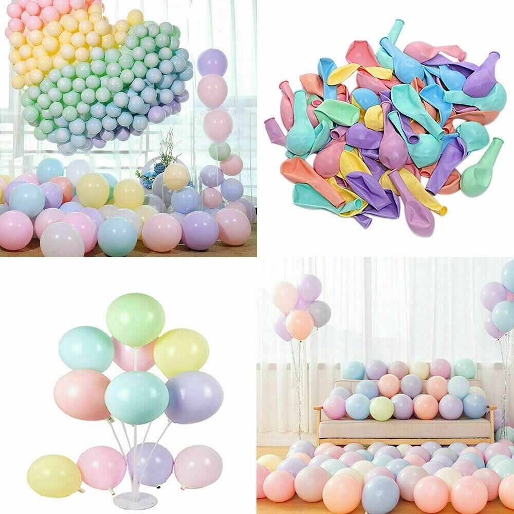 """ALL  11 COLURS HELIUM QUALITY 5/"""" INCH PASTEL PARTY WEDDING BALLOONS"""