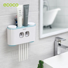 Toothbrush Shelf Toothpaste Dispenser For Household Bathroom Items Storage Boxes Bathroom Accessories Toilet Wall Organizer